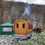 Fass Sauna Winter